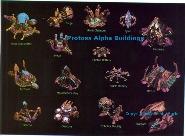 Starcraft Protoss Buildings