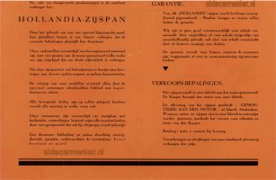 Hollandia's oranje folder