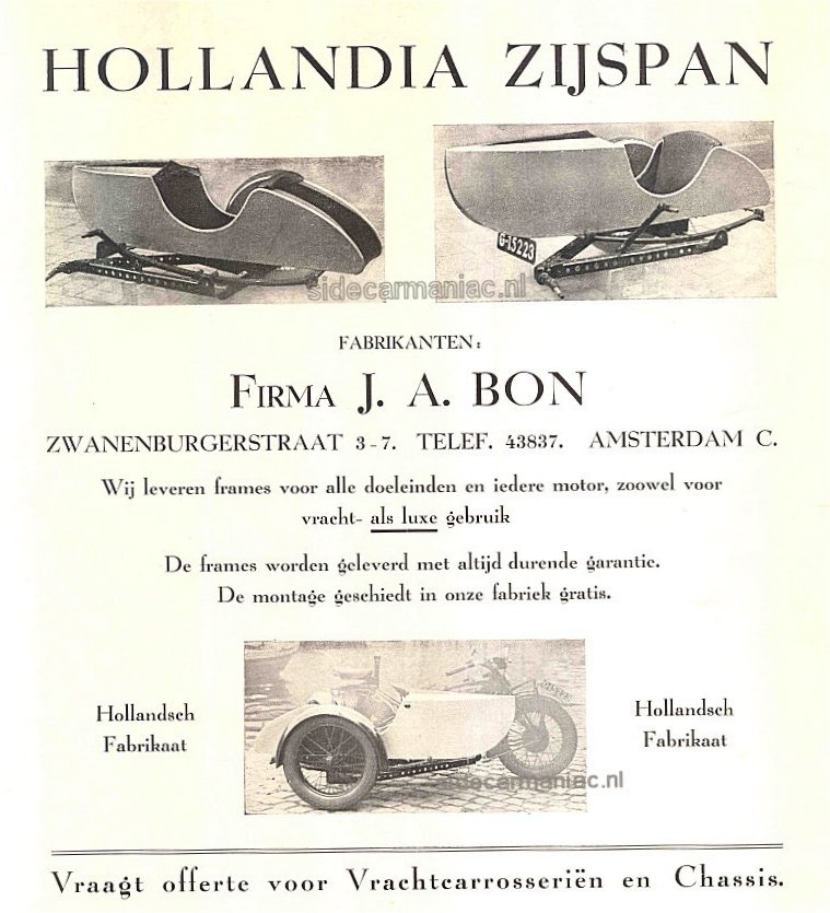 Hollandia's first commecial model