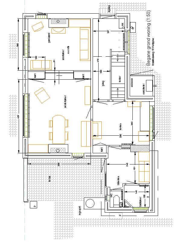 Plan beganegrond woning sattva braakmanweg 18 philippine - Plan indoor moderne woning ...